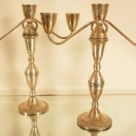 Sterling Silver Three-Arm Candelabras