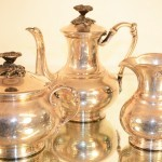 ChristoFle Three-Piece Silver Tea Set