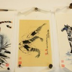 Three Chinese Water Color Paintings