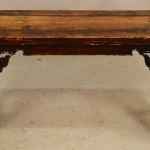 Early Chinese Wood Bench with Decorated Sides