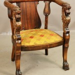 Victorian Empire Style Matching Arm Chair
