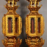 Pair of Early Chinese Table Lanterns