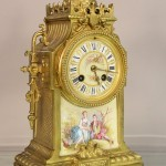 French Louis XIV Bronze Mantel Clock