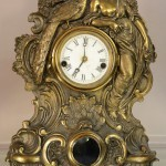 Fancy Waterbury Cast Iron Mantel Clock