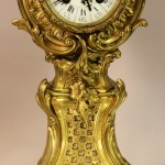 French Louis LV Style Bronze Mantel Clock