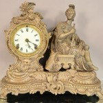 Ansonia Figural Mantel Clock