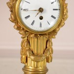 French Louis XVI Style Bronze and Marble Desk Clock
