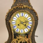 Early French Louis XV style Boulle & Bronze Cartel Clock