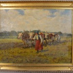"""Plowing the Fields"" Oil on Canvas"
