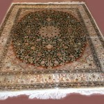 Persian Style Semi-Antique Silk Rug