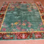 Art Deco Style 1900's Wool Hand Tied Carpet