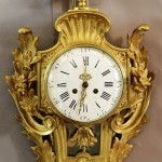 French Louis XVI Style Bronze Cartel Clock