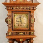 Lenzkirch German Free Swinger Walnut Wall Clock